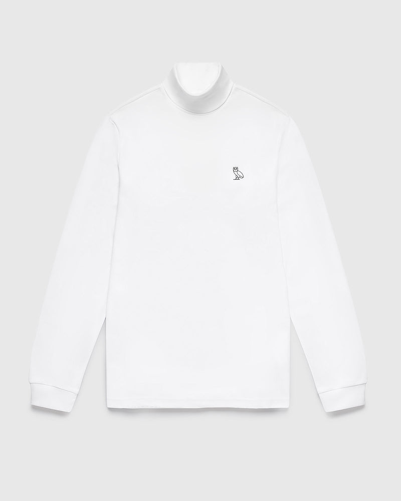 INTERLOCK TURTLENECK - WHITE