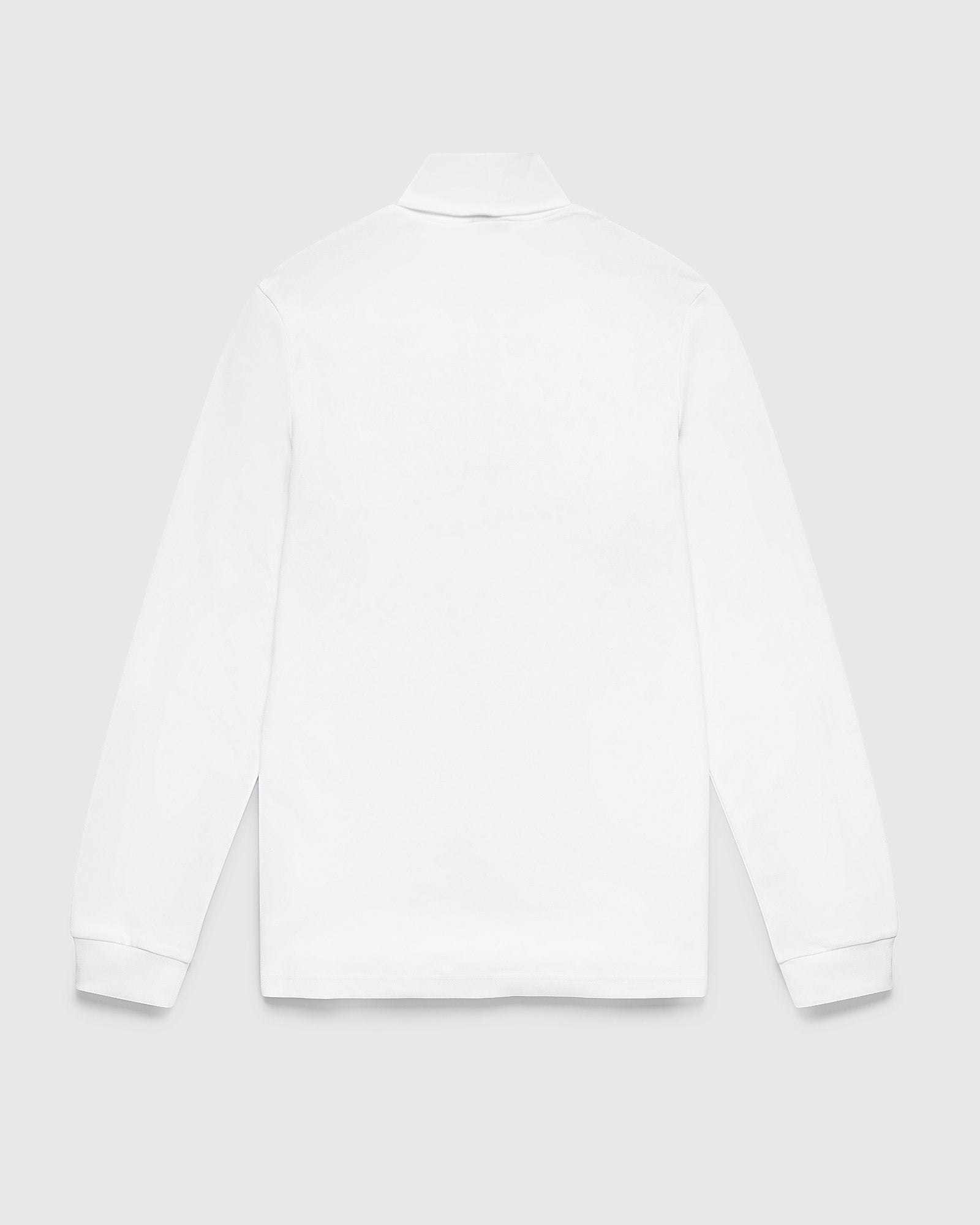 INTERLOCK TURTLENECK - WHITE IMAGE #2