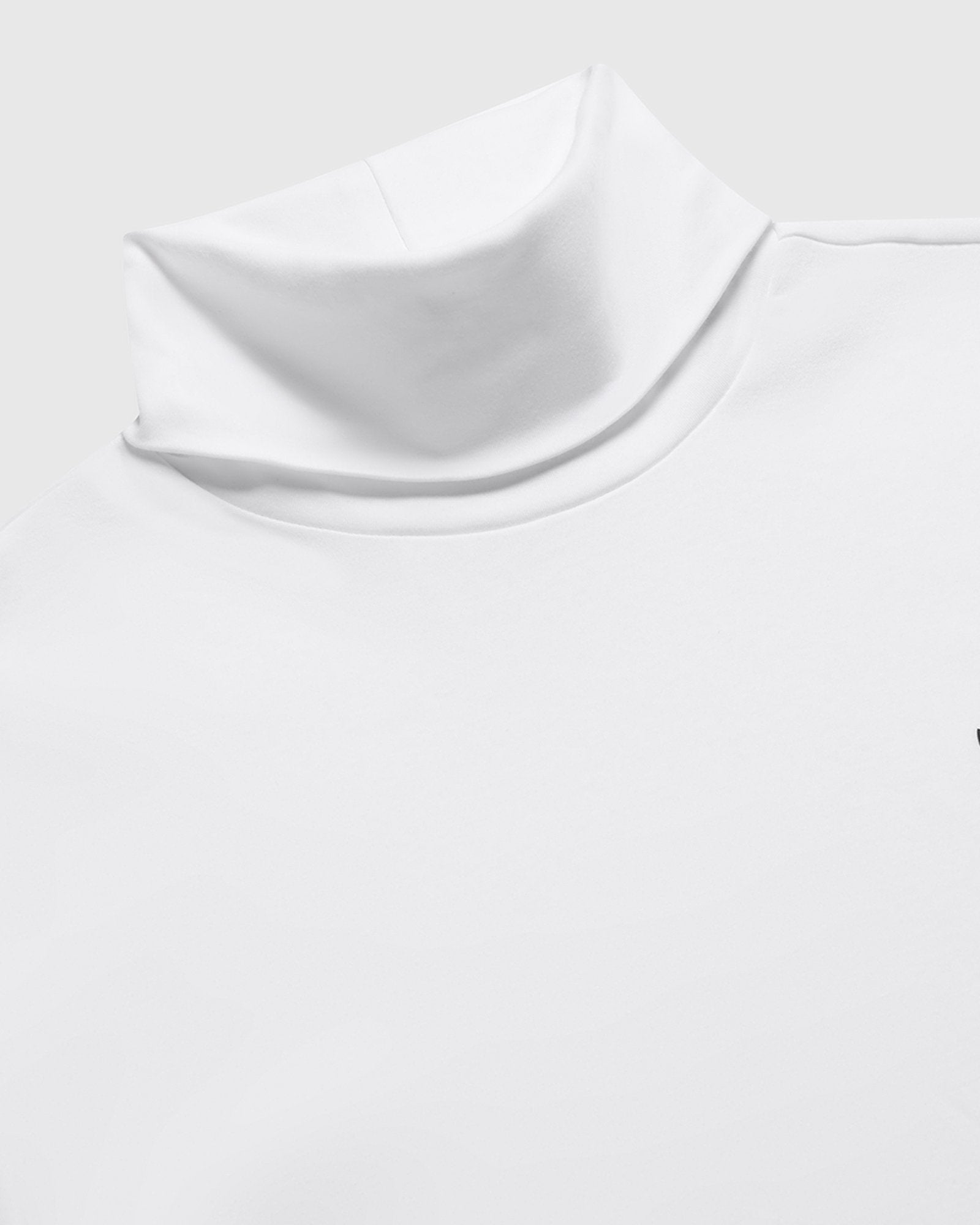 INTERLOCK TURTLENECK - WHITE IMAGE #3