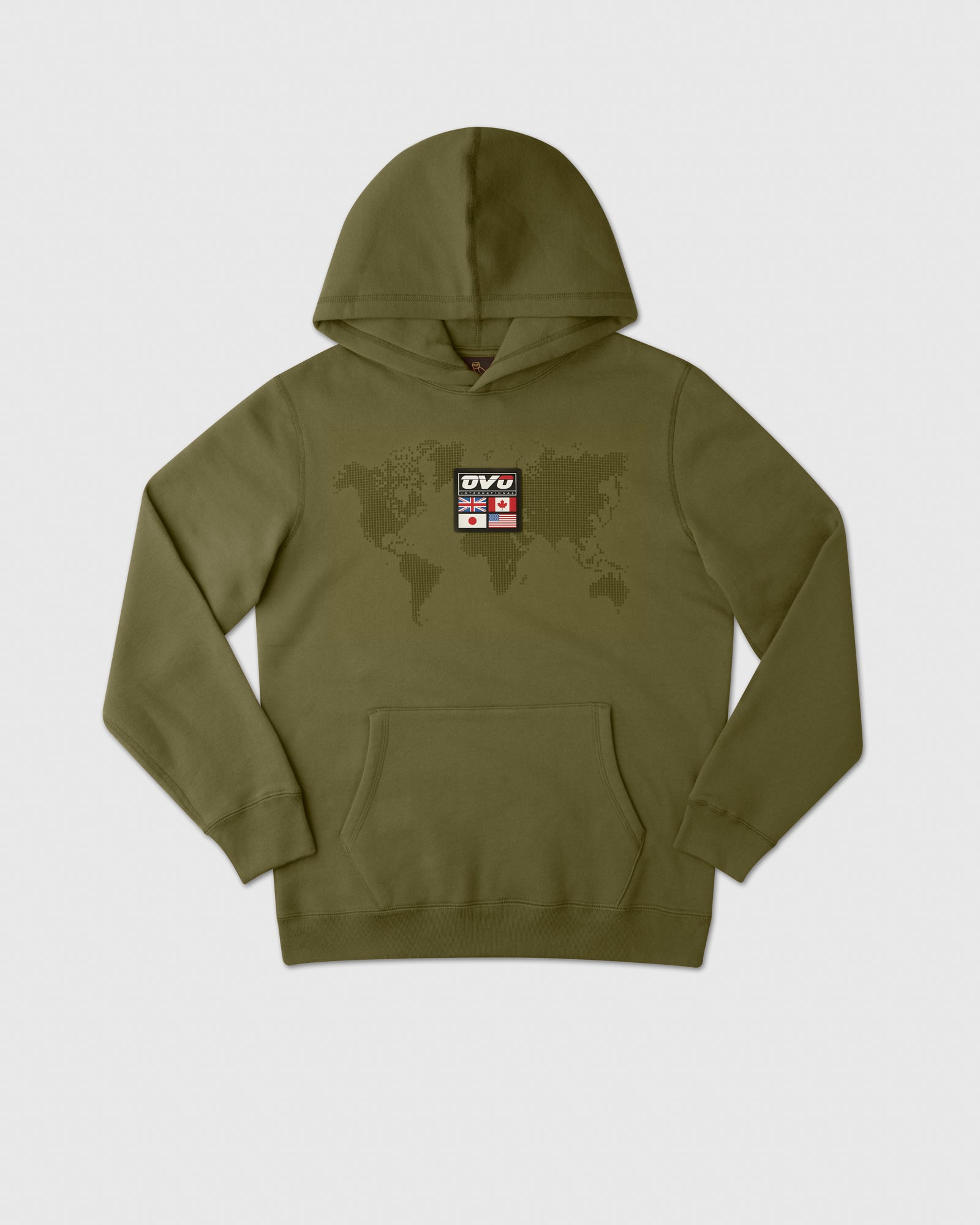 OVO INTERNATIONAL GRID HOODIE - VINE IMAGE #1