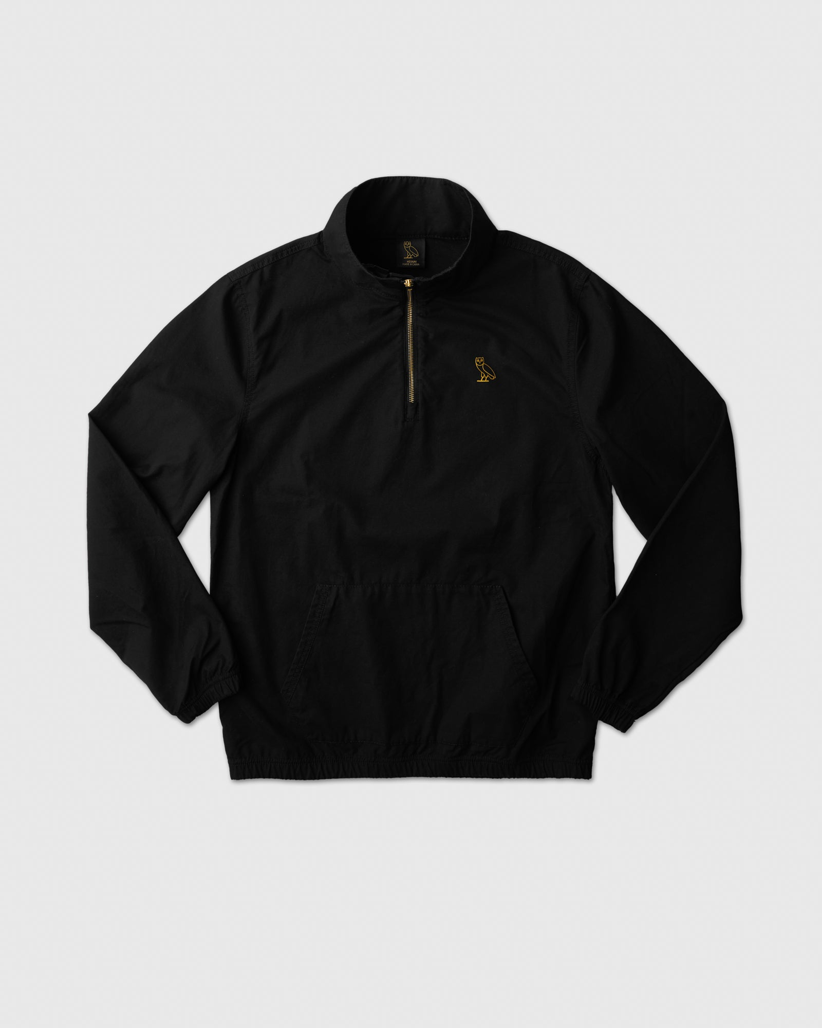 LIGHTWEIGHT WOVEN PULL OVER - BLACK IMAGE #1
