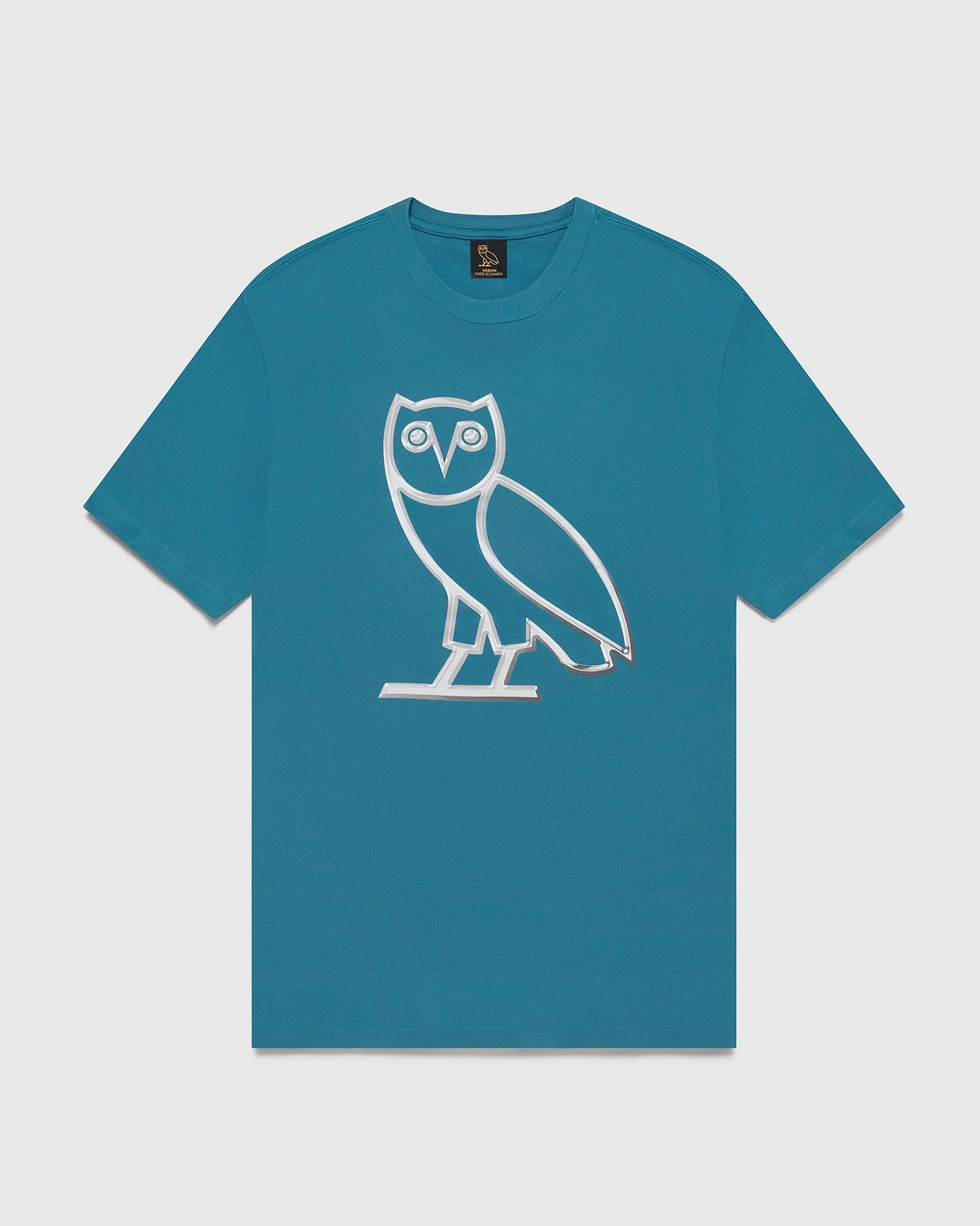 LIQUID METAL OWL T-SHIRT - HORIZON BLUE IMAGE #1