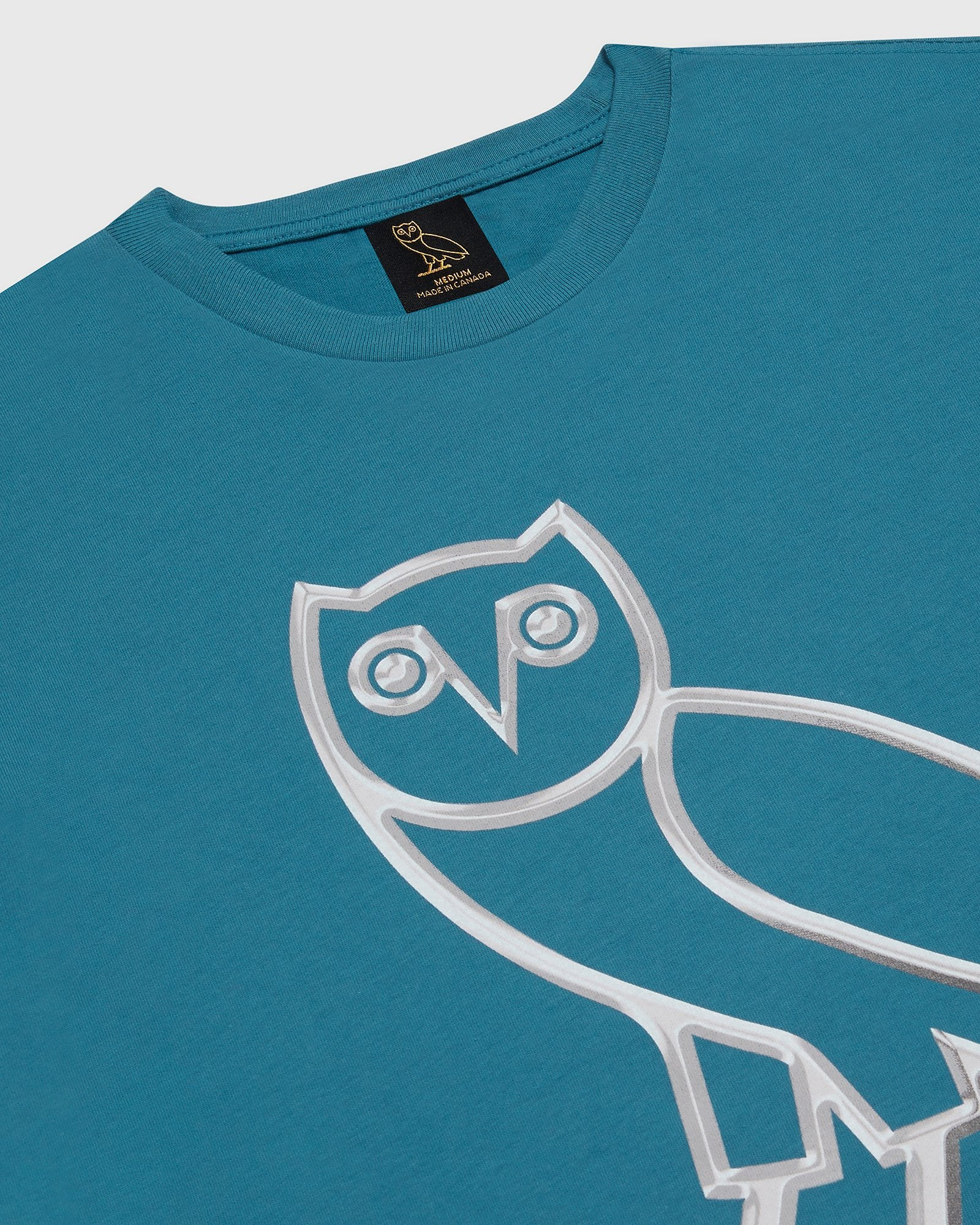 LIQUID METAL OWL T-SHIRT - HORIZON BLUE IMAGE #3