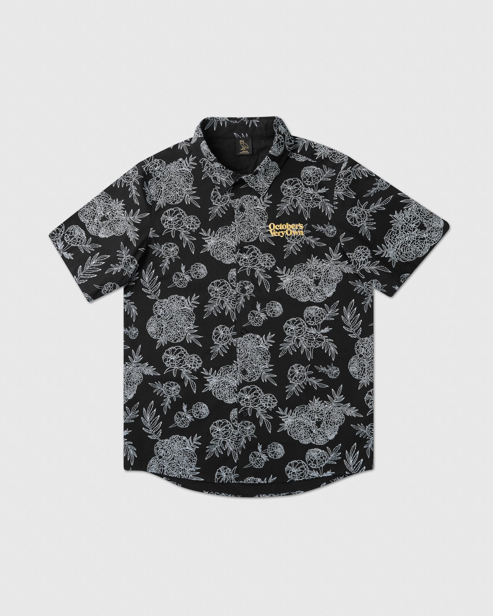 MARIGOLD BUTTON DOWN SHIRT - BLACK IMAGE #1
