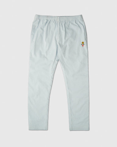 MARIGOLD SEERSUCKER PANT - DUSTY BLUE