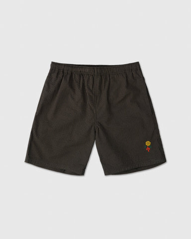 MARIGOLD SEERSUCKER SHORT - BLACK