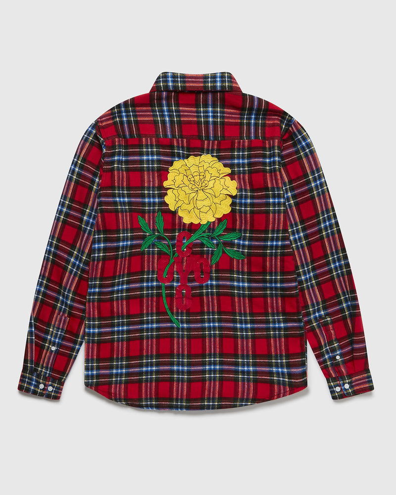 MARIGOLD TARTAN PLAID SHIRT - RED
