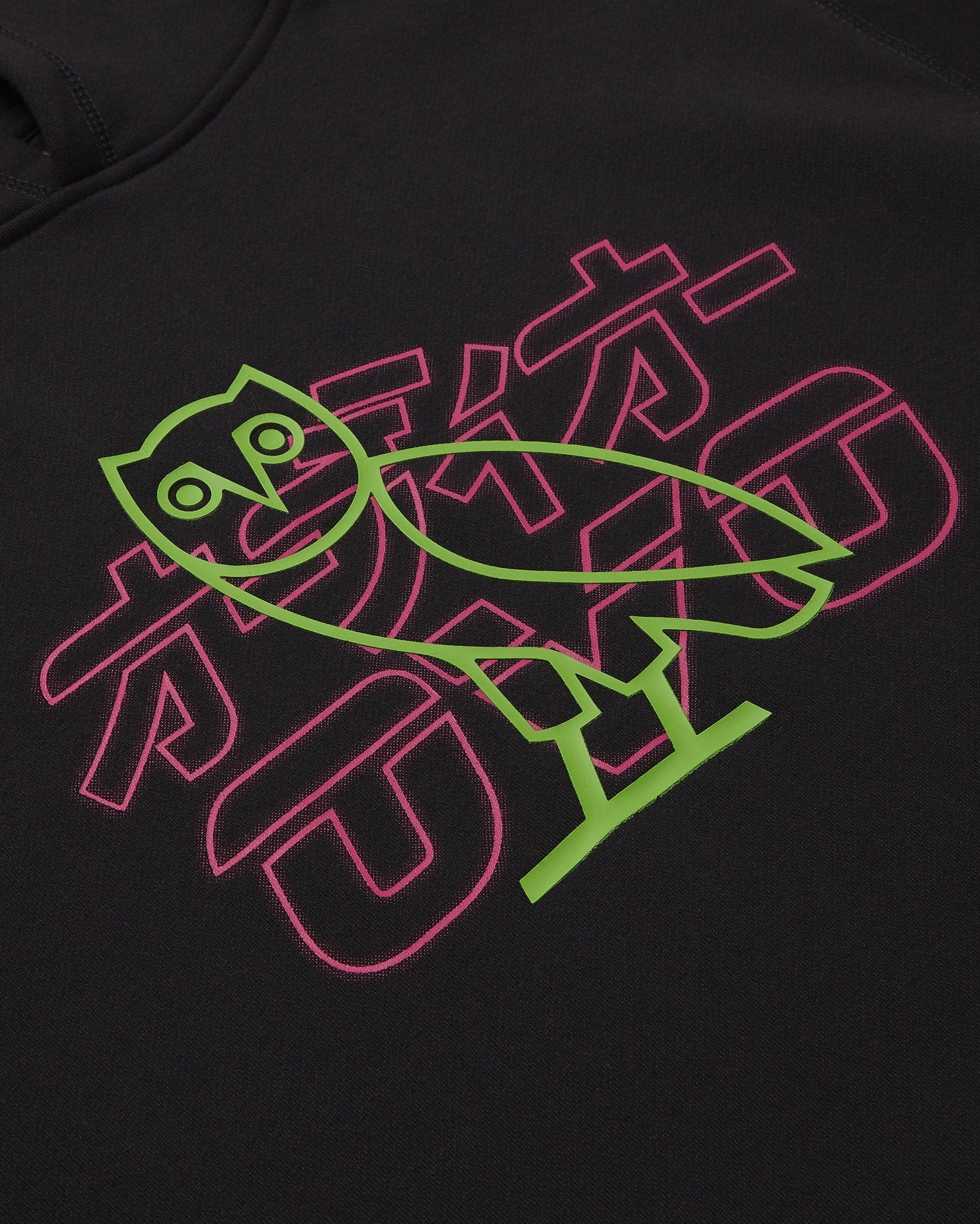 NEON LIGHT HOODIE - BLACK/RED IMAGE #3