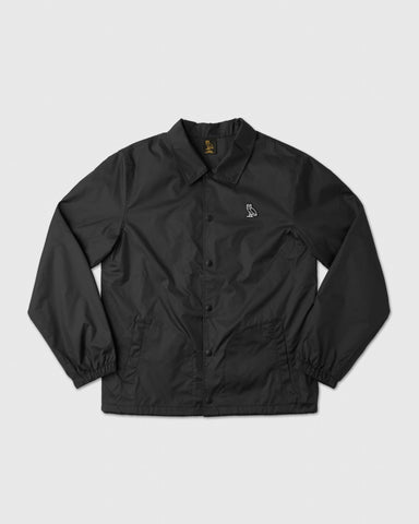 NYLON COACHES JACKET - BLACK