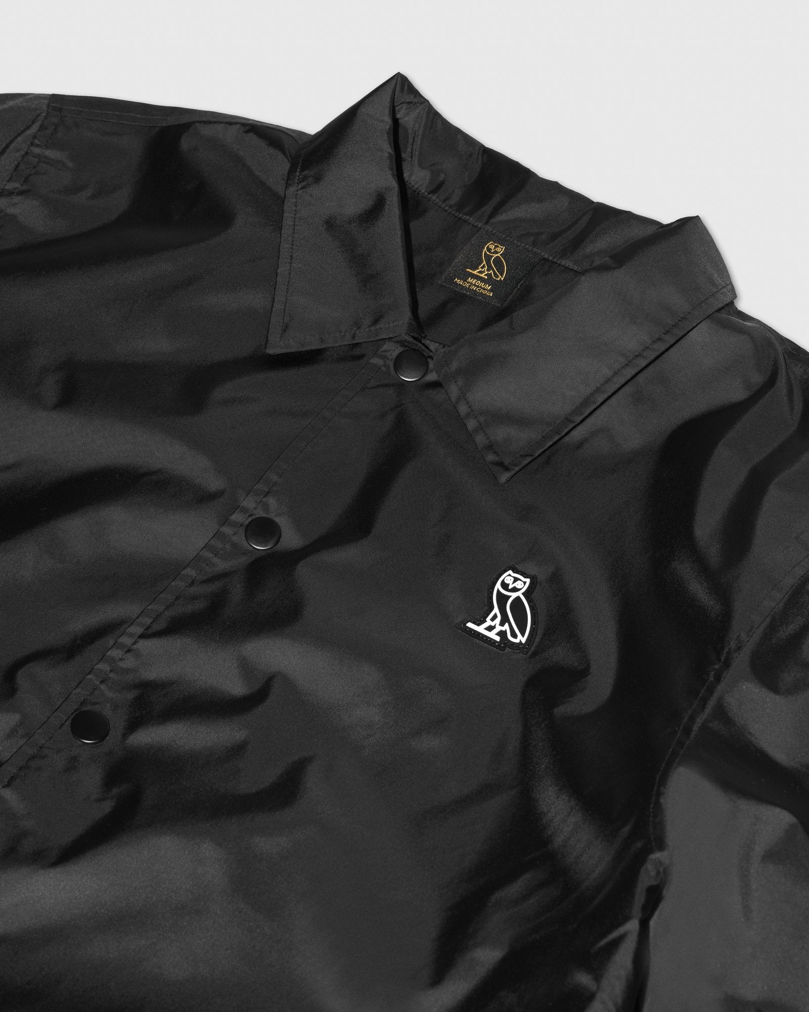 NYLON COACHES JACKET - BLACK IMAGE #2