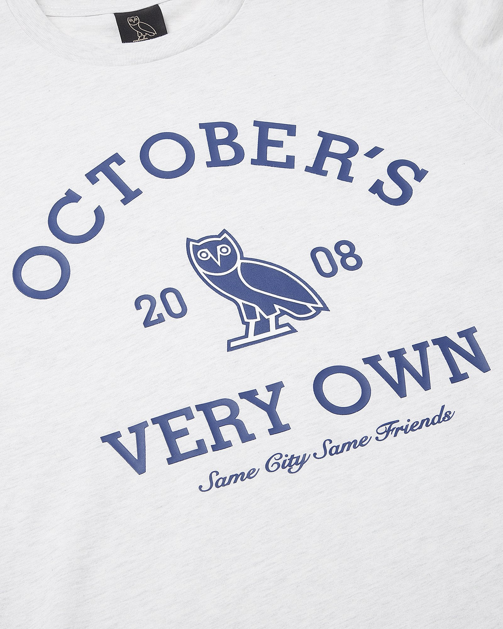 OVO COLLEGIATE LONGSLEEVE T-SHIRT - ASH HEATHER GREY IMAGE #3