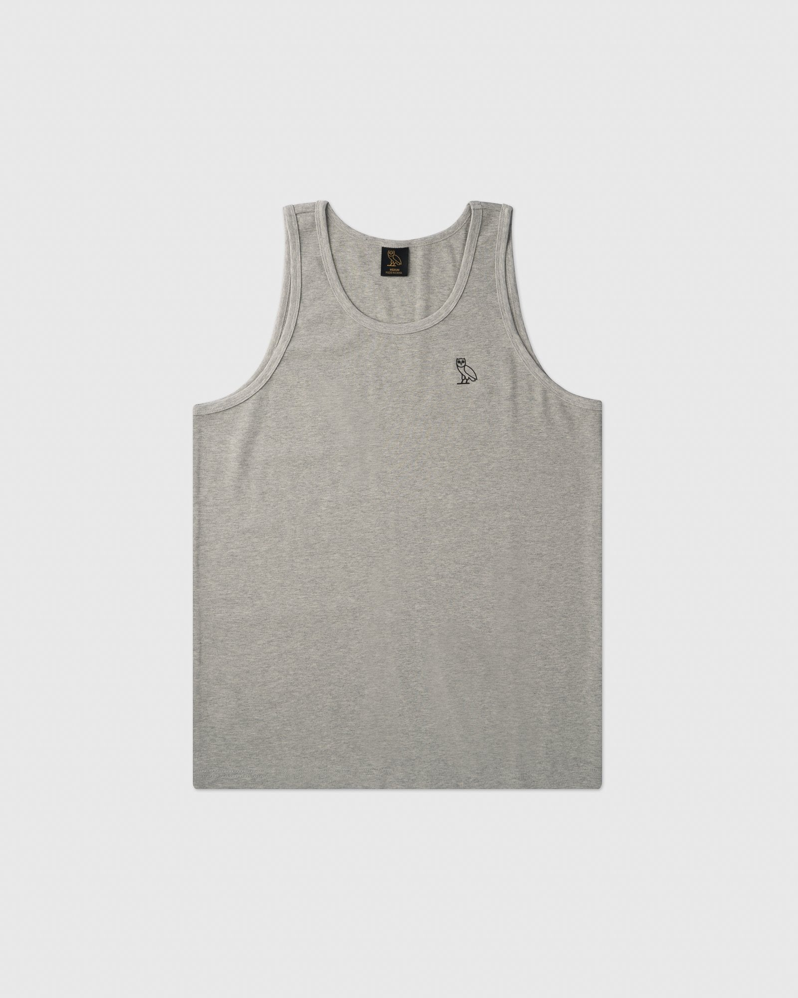 OVO ESSENTIALS TANK TOP - HEATHER GREY IMAGE #1