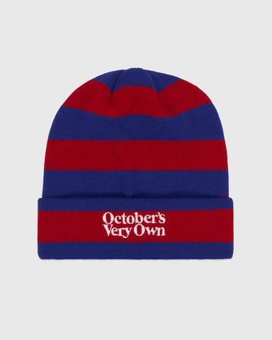 FAMILIA STRIPE BEANIE - RED/BLUE