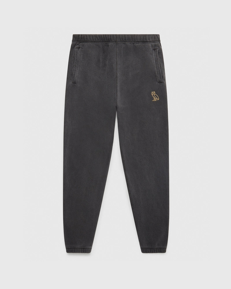 OVO GARMENT DYE SWEATPANT - BLACK