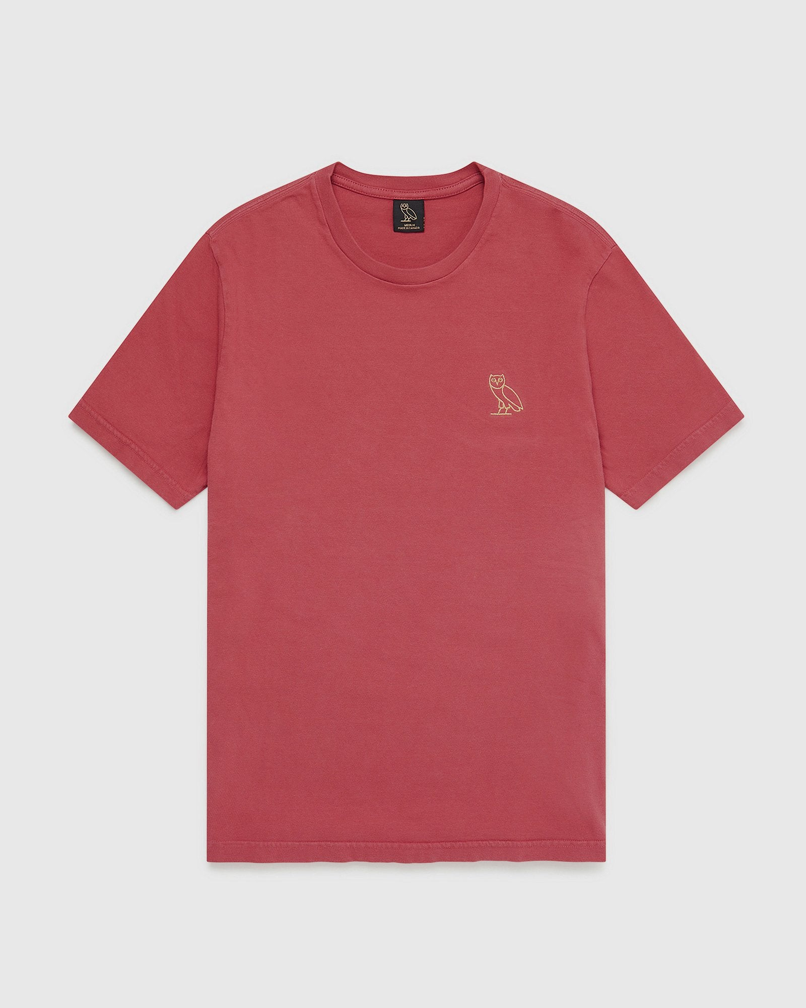OVO GARMENT DYE T-SHIRT - RED IMAGE #1