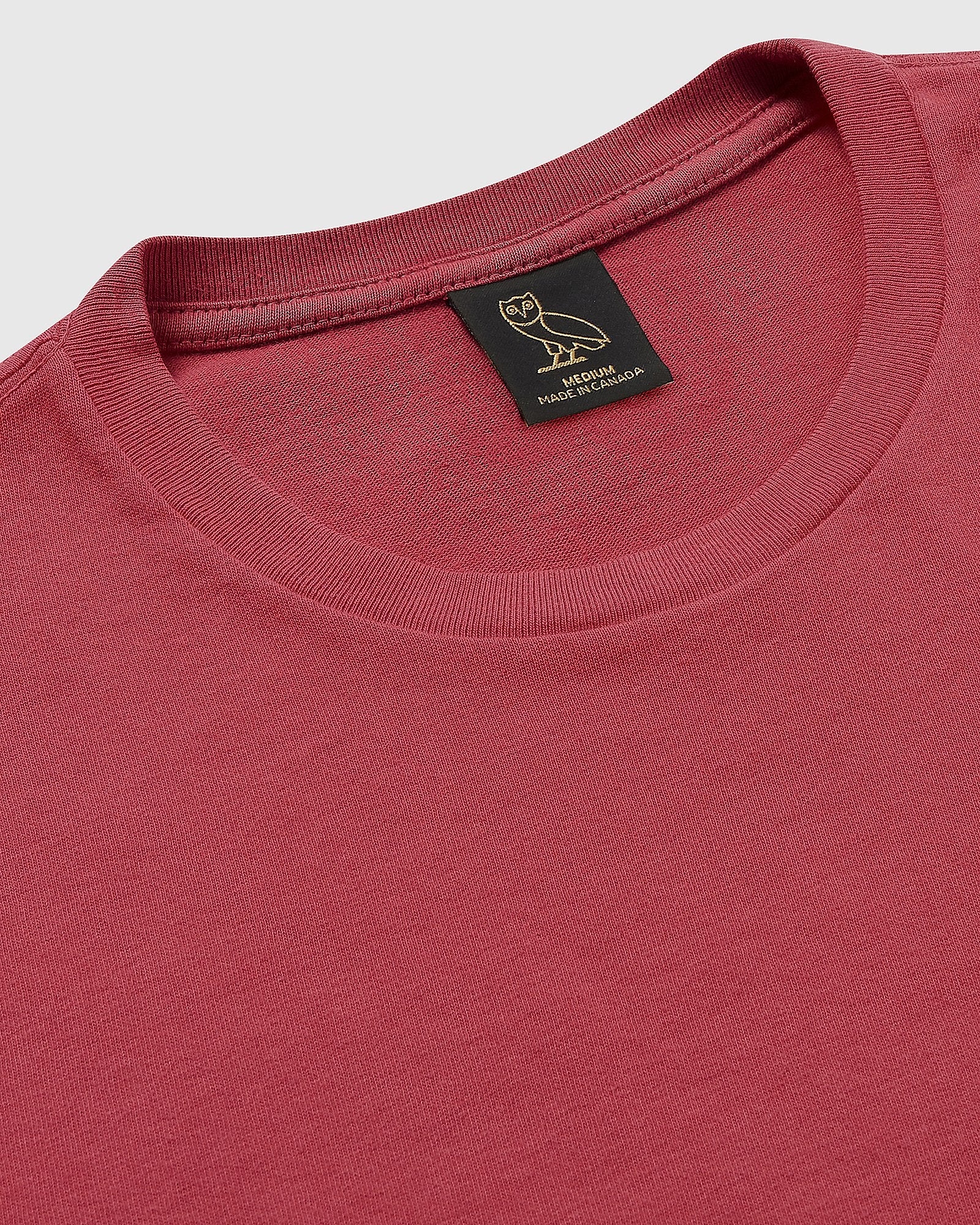 OVO GARMENT DYE T-SHIRT - RED IMAGE #4