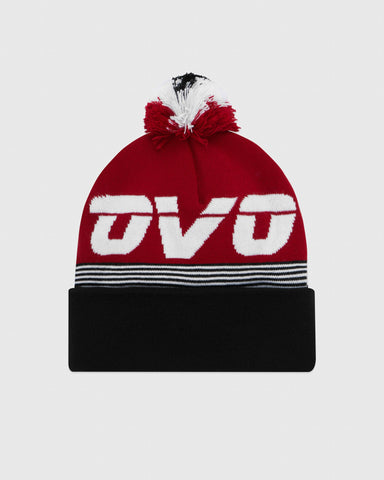 PATCHWORK TOQUE - RED