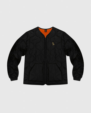 QUILTED LINER JACKET - BLACK