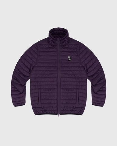 QUILTED LINER JACKET - DARK PURPLE