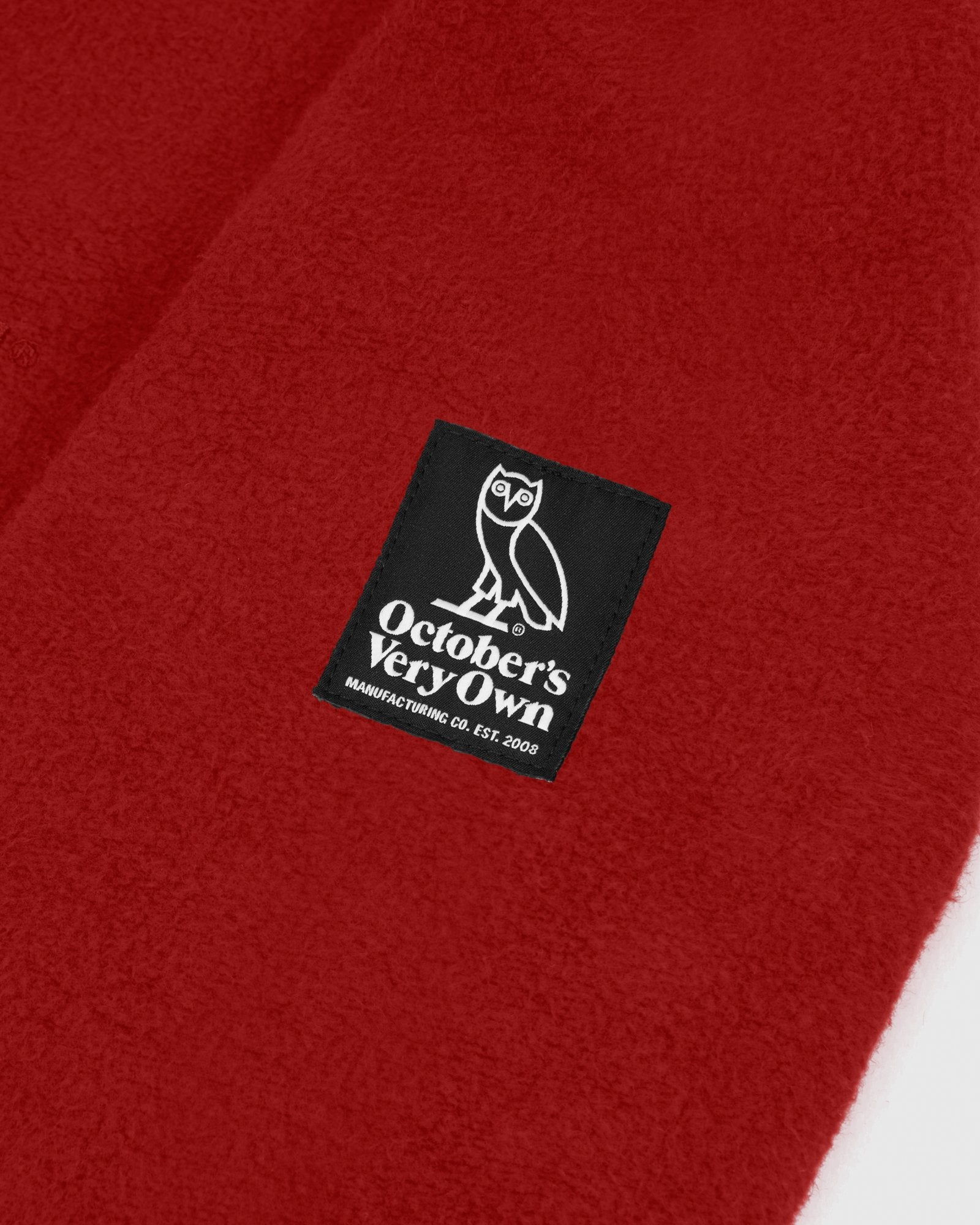 REVERSE FLEECE CREWNECK - RED IMAGE #4