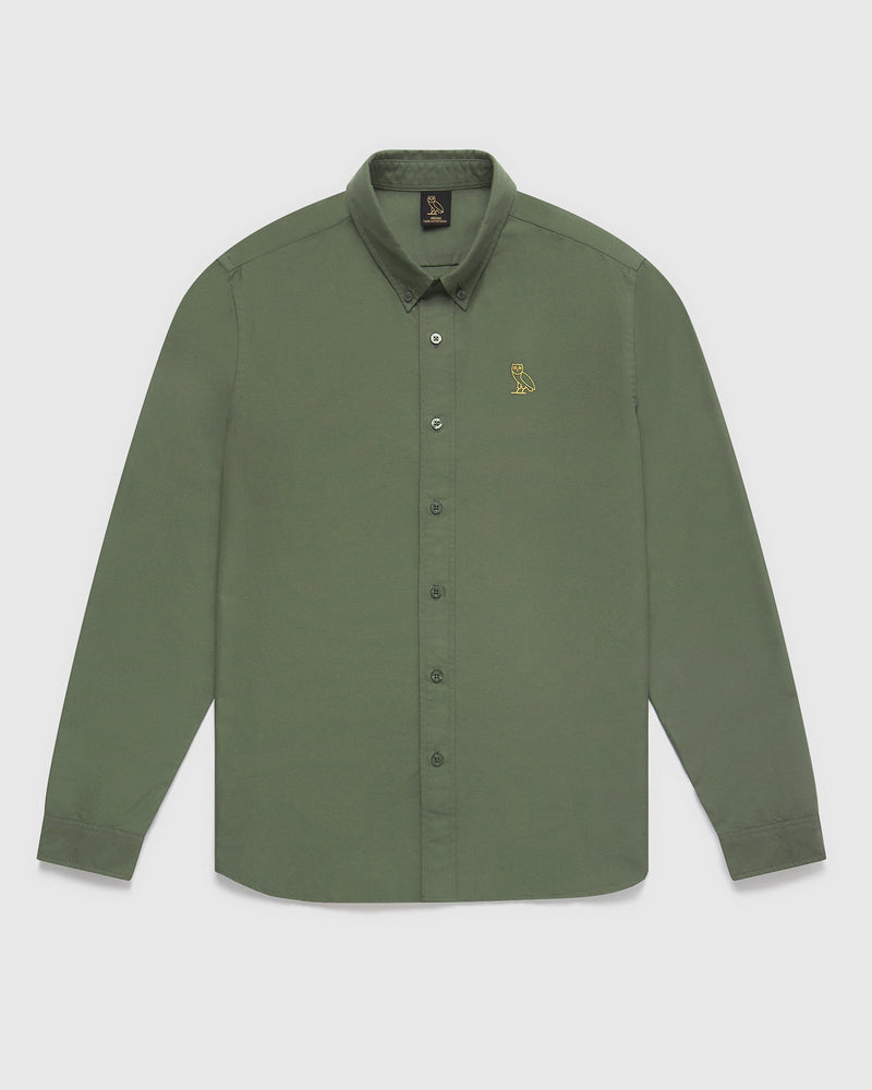 OXFORD SHIRT - MILITARY GREEN