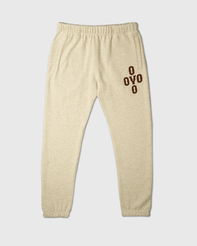 POM POM SWEATPANT - EGGSHELL HEATHER