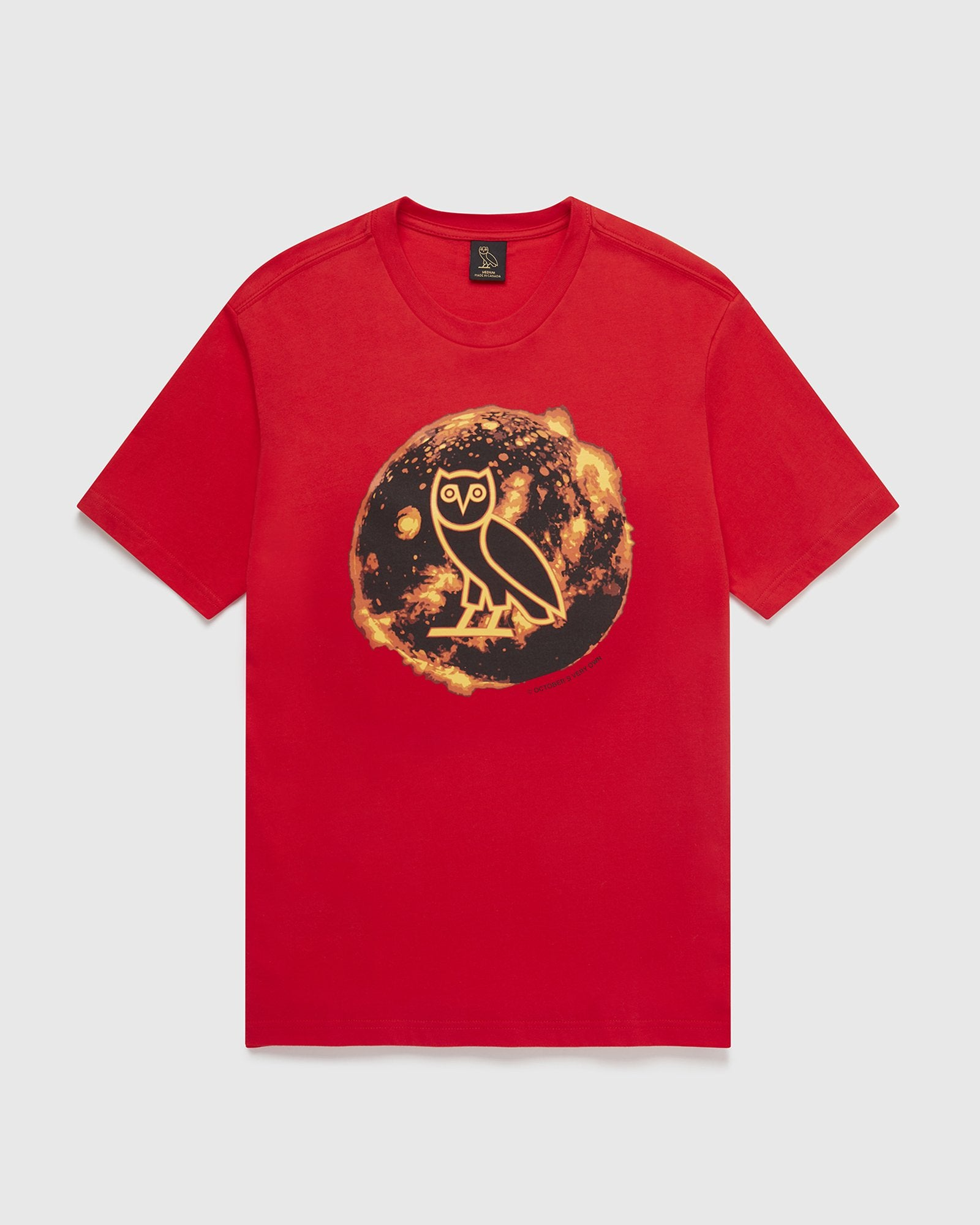 SOLAR OWL T-SHIRT - RED IMAGE #1