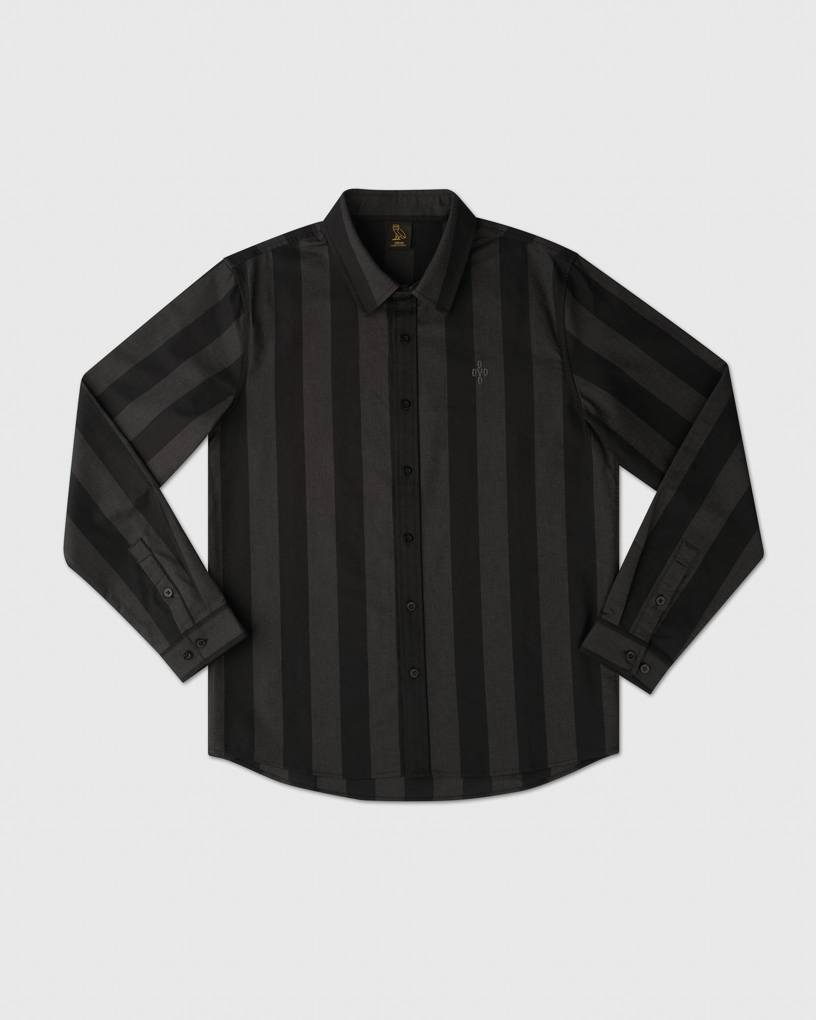 STRIPED OXFORD SHIRT - BLACK IMAGE #1