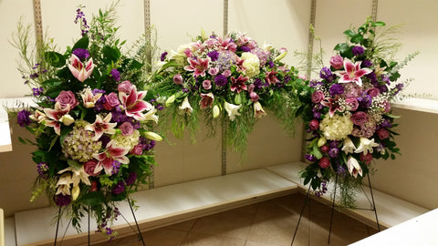 Funeral  Flowers Package (White Purple And Lavender )