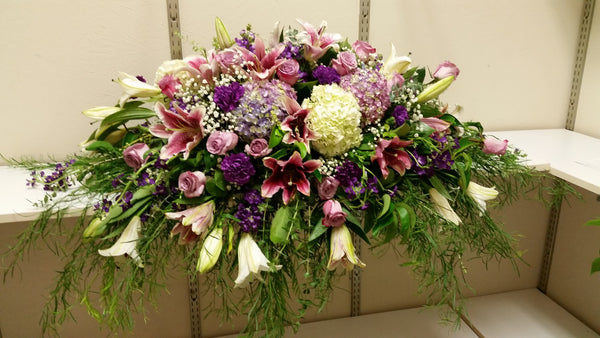 Casket (Purple Lavender and White)