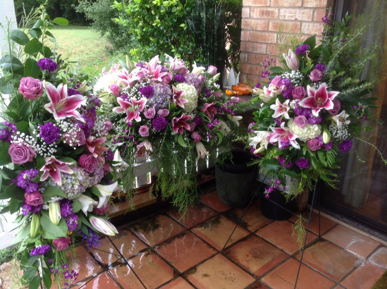 Funeral Flowers Package White Purple And Lavender Atx Flowers