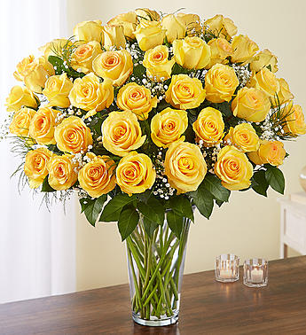 Long Yellow Roses