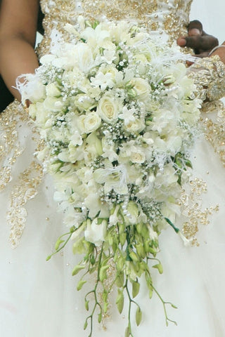 Wedding Hand Bouquet (white) 512-586-9138