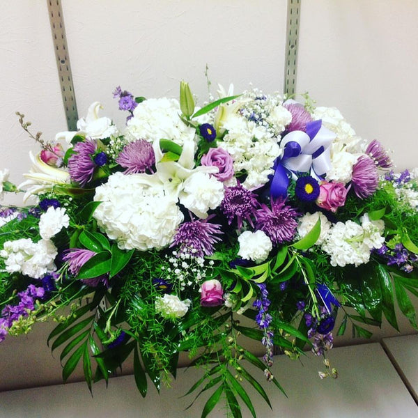 Casket White and Lavender