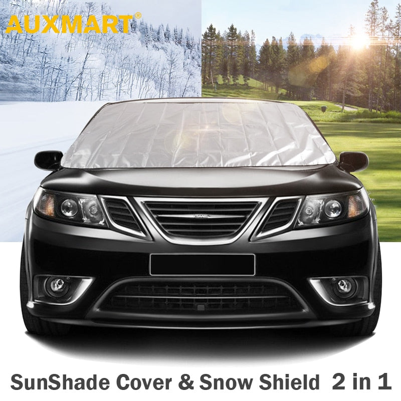 SES-AME Street Elmo Christmas Hat Car Windshield Snow Cover,Ice Removal Sun Shade,Fit for Universal Cars,147x118cm