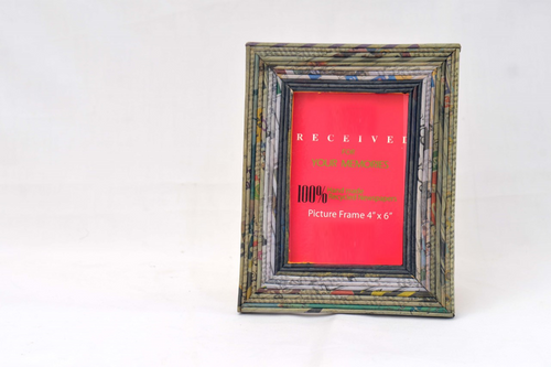 Recycled Newspaper Frame