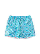 Load image into Gallery viewer, AugustSocietyEchoKids Swim Trunks-Seafoam-Watermelon-Front
