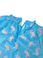 Load image into Gallery viewer, August Society Waikiki Kids Rash Guard -  Flamingo