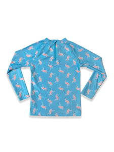 August Society Waikiki Kids Rash Guard -  Flamingo