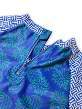 Load image into Gallery viewer, August Society Waikiki Kids Rash Guard - Pineapple Three