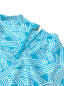 August Society Waikiki Kids Rash Guard - SeaFoam