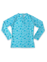 Load image into Gallery viewer, August Society Waikiki Kids Rash Guard - SeaFoam