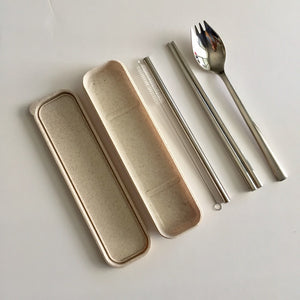 304 Stainless Steel Straw & Cutlery Set