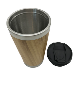 Bamboo Stainless Steel Coffee Mug