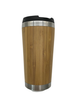 Load image into Gallery viewer, Bamboo Stainless Steel Coffee Mug