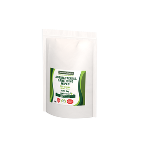 THE NURTURING CO. 100% Bamboo Antibacterial Sanitizing Wipes Refill