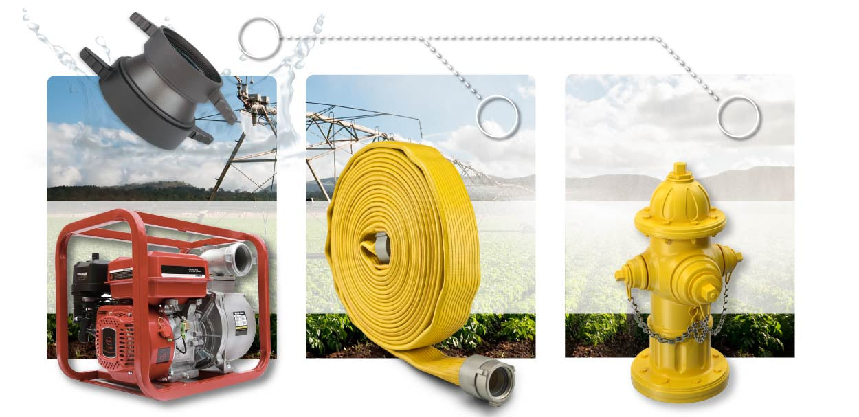 4 Inch NH-NST Female Swivel LH x 4 Inch NPSH Female Swivel LH Fire Hose Pump Hydrant Infographic