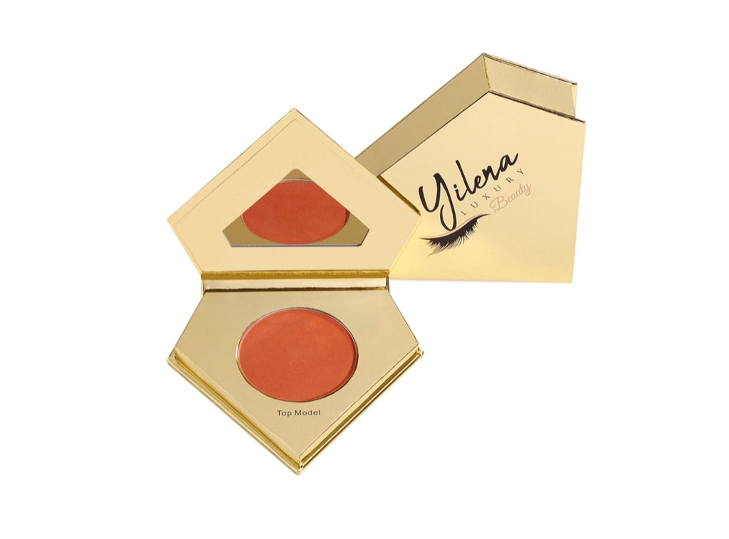 Top Model Blush  The Yilena Luxury Beauty Top Model Blush comes with a one-pressed matte powder blush that can be used to create  the ideal top model look.