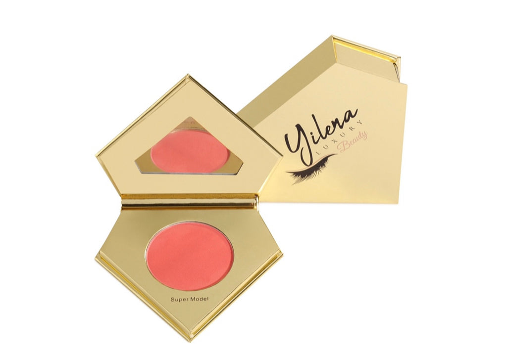 The Yilena Luxury Beauty Super Model Blush is your secret weapon to create the perfect look. Each Blush comes with 1 matte pressed powder blush that can be used to recreate a super model looks or customize your own.