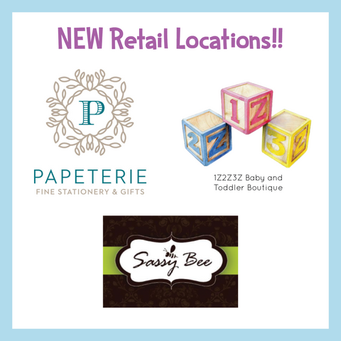 New retail locations - sassy bee, 1z2z3z and papeterie